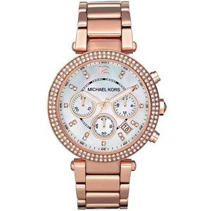 Michael Kors Rose Gold Chronograph Watch MK5491